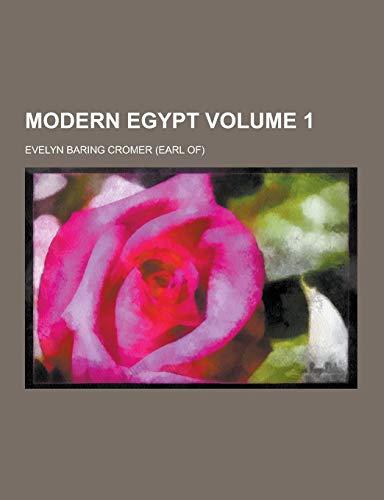 9781230318271: Modern Egypt Volume 1