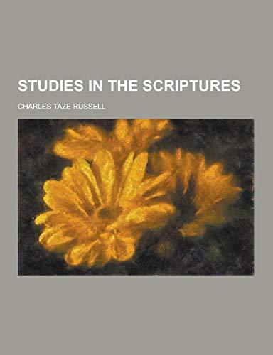 9781230323770: Studies in the Scriptures