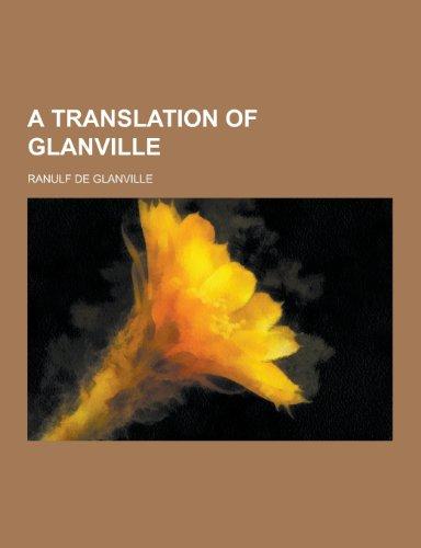 9781230338132: A Translation of Glanville