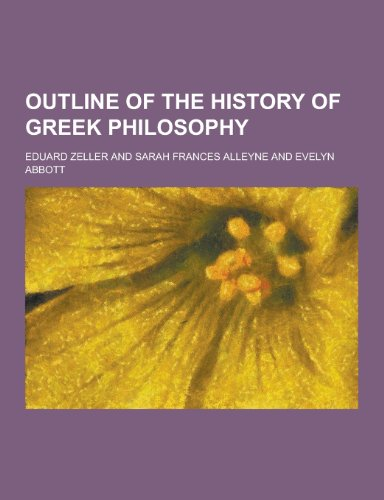 9781230358789: Outline of the History of Greek Philosophy