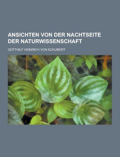 9781230448244: Ansichten Von Der Nachtseite Der Naturwissenschaft