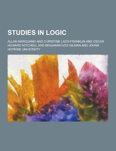 9781230454078: Studies in Logic