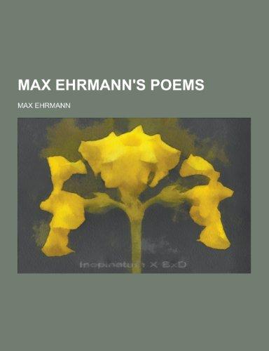 9781230456225: Max Ehrmann's Poems