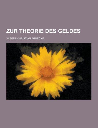 9781230461489: Zur Theorie Des Geldes