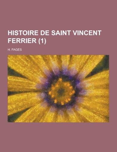 9781230470672: Histoire de Saint Vincent Ferrier (1)