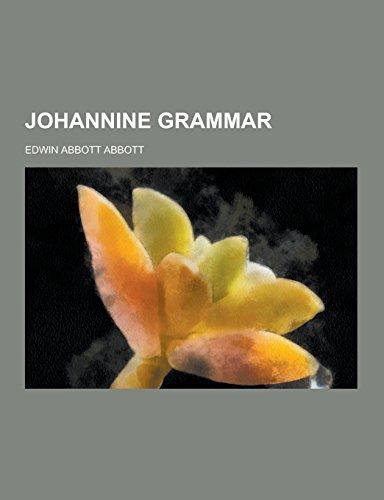9781230732510: Johannine Grammar