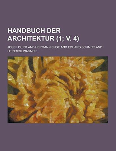 9781230739830: Handbuch Der Architektur (1; V. 4 )