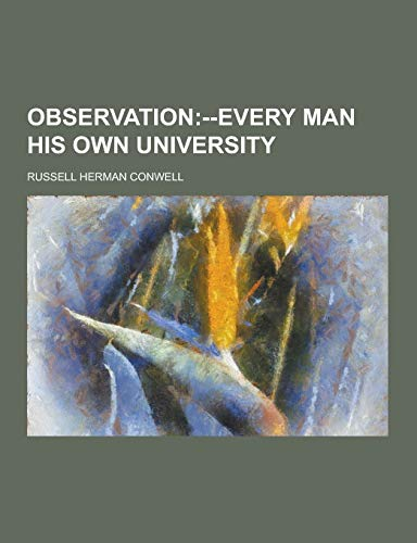 9781230861647: Observation