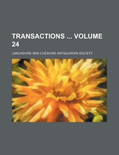 9781231176337: Transactions Volume 24