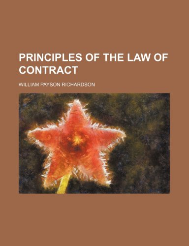 9781231226100: Principles of the Law of Contract
