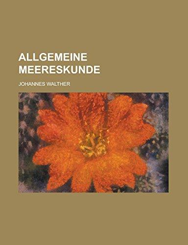 9781231276419: Allgemeine Meereskunde