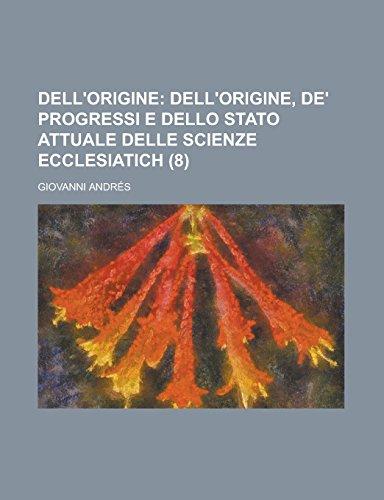 9781231278147: Dell'origine (8) (Italian Edition)