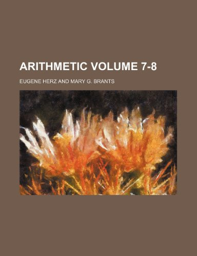 9781231286425: Arithmetic Volume 7-8