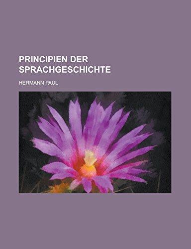 9781231291429: Principien Der Sprachgeschichte