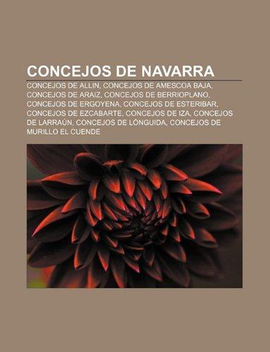 9781231370728: Concejos de Navarra: Concejos de Allin, Concejos de Amescoa Baja, Concejos de Araiz, Concejos de Berrioplano, Concejos de Ergoyena