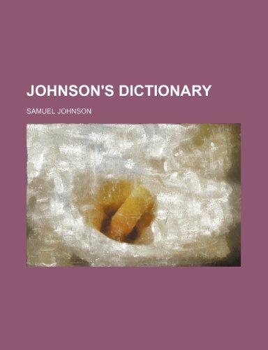 9781231414484: Johnson's Dictionary