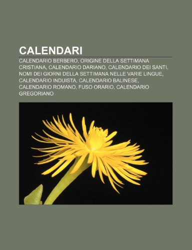 Calendario Gregoriano Santi.9781231887462 Calendari Calendario Berbero Origine Della