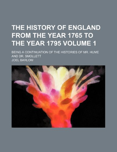 The History Of England From The Year: Barlow, Joel
