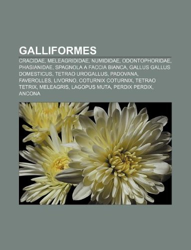 9781231997178: Galliformes: Cracidae, Meleagrididae, Numididae, Odontophoridae, Phasianidae, Spagnola a faccia bianca, Gallus gallus domesticus (Italian Edition)
