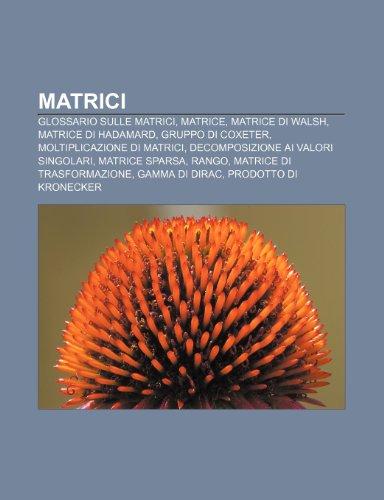 9781232041153: Matrici: Glossario sulle matrici, Matrice, Matrice di Walsh, Matrice di Hadamard, Gruppo di Coxeter, Moltiplicazione di matrici