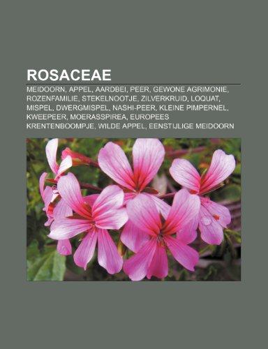 9781232578512: Rosaceae: Meidoorn, Appel, Aardbei, Peer, Gewone Agrimonie, Rozenfamilie, Stekelnootje, Zilverkruid, Loquat, Mispel, Dwergmispel