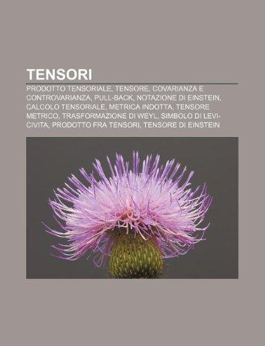 9781232617181: Tensori: Prodotto Tensoriale, Tensore, Covarianza E Controvarianza, Pull-Back, Notazione Di Einstein, Calcolo Tensoriale, Metri