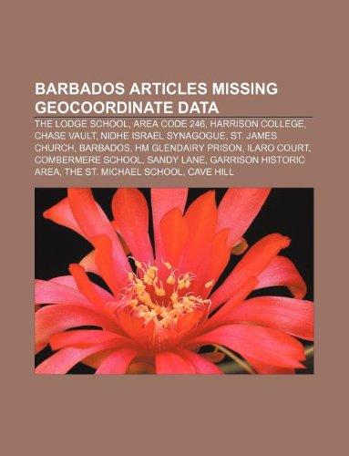 9781233060023 Barbados Articles Missing Geocoordinate Data The