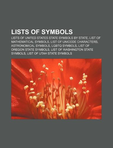 9781233079346 Lists Of Symbols Lists Of United States State