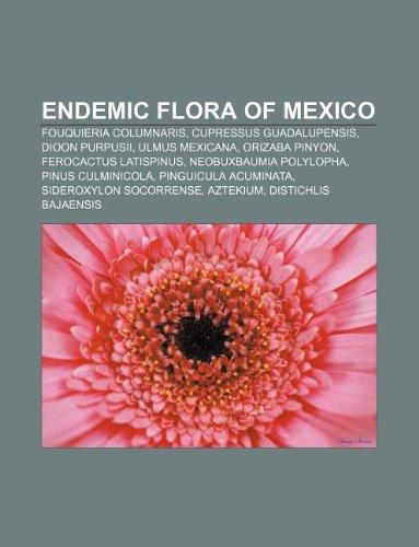 9781233105274: Endemic flora of Mexico: Fouquieria columnaris, Cupressus guadalupensis, Dioon purpusii, Ulmus mexicana, Orizaba Pinyon, Ferocactus latispinus