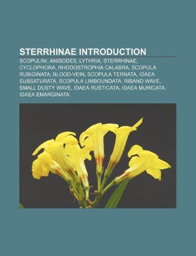 9781233112128: Sterrhinae Introduction: Scopulini, Anisodes, Lythria, Sterrhinae, Cyclophora, Rhodostrophia Calabra, Scopula Rubiginata, Blood-Vein