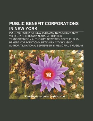 9781233136254: Public Benefit Corporations in New York: Port Authority of New York and New Jersey, New York State Thruway