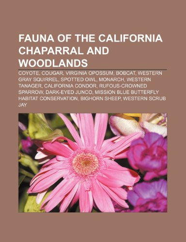 9781233289905: Fauna of the California Chaparral and Woodlands: Coyote, Cougar, Virginia Opossum, Bobcat, Western Gray Squirrel, Spotted Owl, Monarch