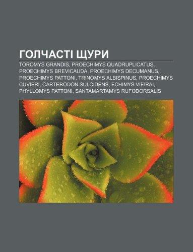 9781233862610: Holchasti Shchury: Toromys Grandis, Proechimys Quadruplicatus, Proechimys Brevicauda, Proechimys Decumanus, Proechimys Pattoni