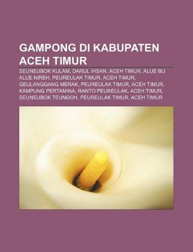 9781233925902: Gampong Di Kabupaten Aceh Timur: Seuneubok Kulam, Darul Ihsan, Aceh Timur, Alue Bu Alue Nireh, Peureulak Timur, Aceh Timur, Geulanggang Merak