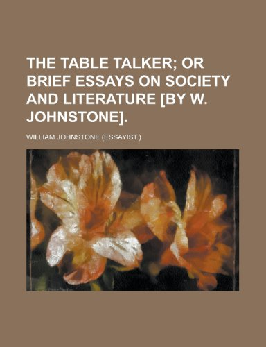 The table talker (1234321211) by Johnstone, William