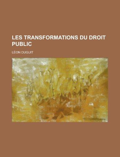 9781234342210: Les Transformations Du Droit Public