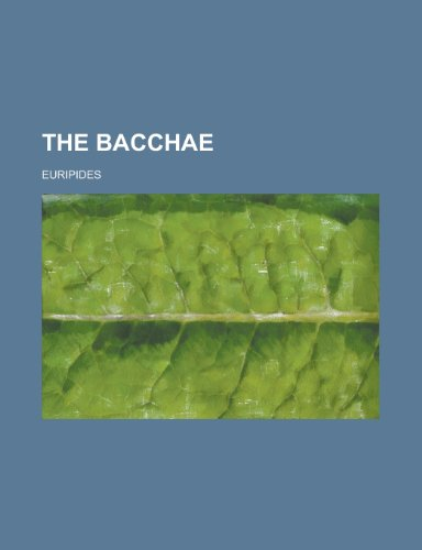 9781234384814: The Bacchae