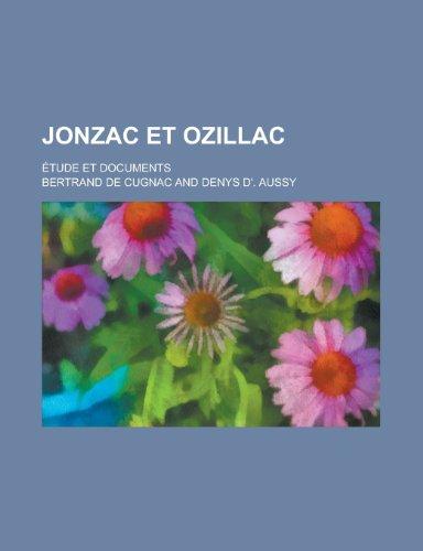 9781234409647: Jonzac Et Ozillac; Etude Et Documents