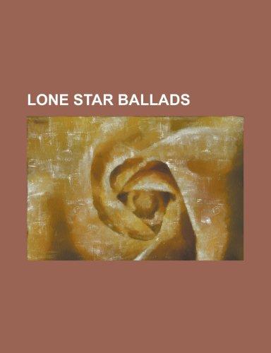 9781234417284: Lone star ballads