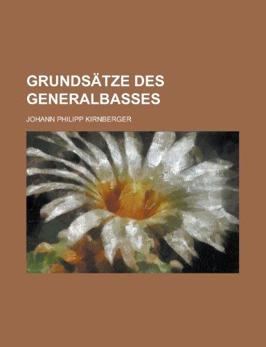 9781234428464: Grundsatze Des Generalbasses