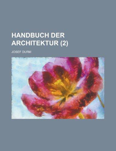 9781234447571: Handbuch Der Architektur (2 )