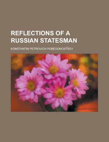 9781234533335: Reflections of a Russian Statesman