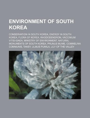 Environment of South Korea: Conservation in South: Source: Wikipedia