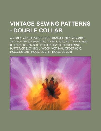 9781234688004  Vintage Sewing Patterns - Double Collar  Advance 4470 5b449dec1