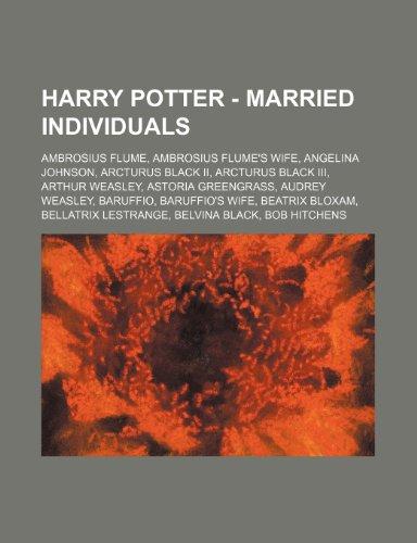 9781234819286: Harry Potter - Married Individuals: Ambrosius Flume, Ambrosius Flume's Wife, Angelina Johnson, Arcturus Black II, Arcturus Black III, Arthur Weasley,