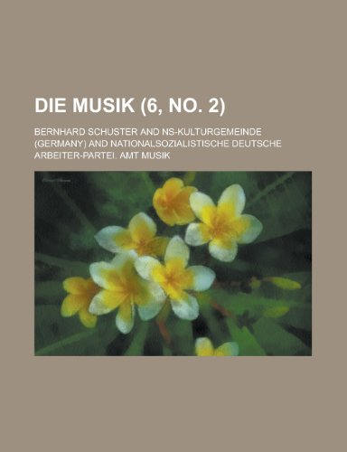 9781234881962: Die Musik (6, No. 2 )