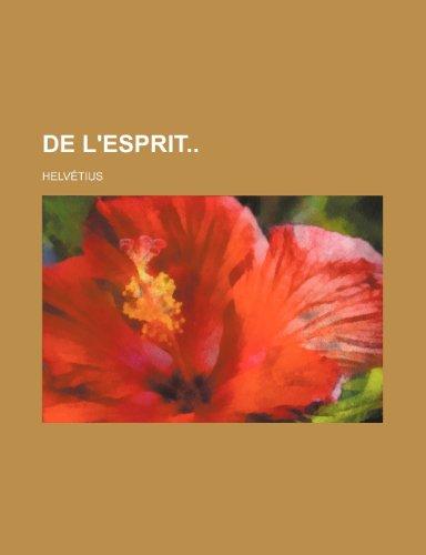 9781234895587: de L'Esprit