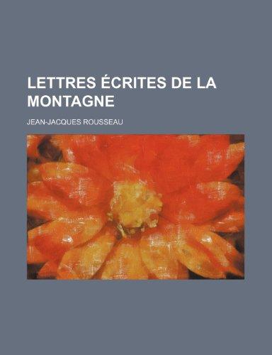 9781234906368: Lettres Ecrites de La Montagne (2)