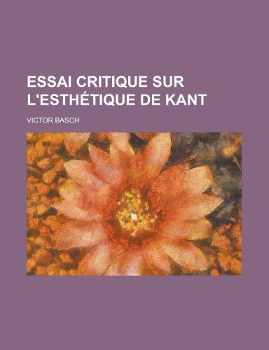 9781234911379: Essai Critique Sur L'esthétique de Kant
