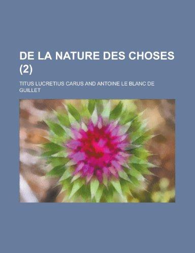 9781234922757: De La Nature Des Choses (2)